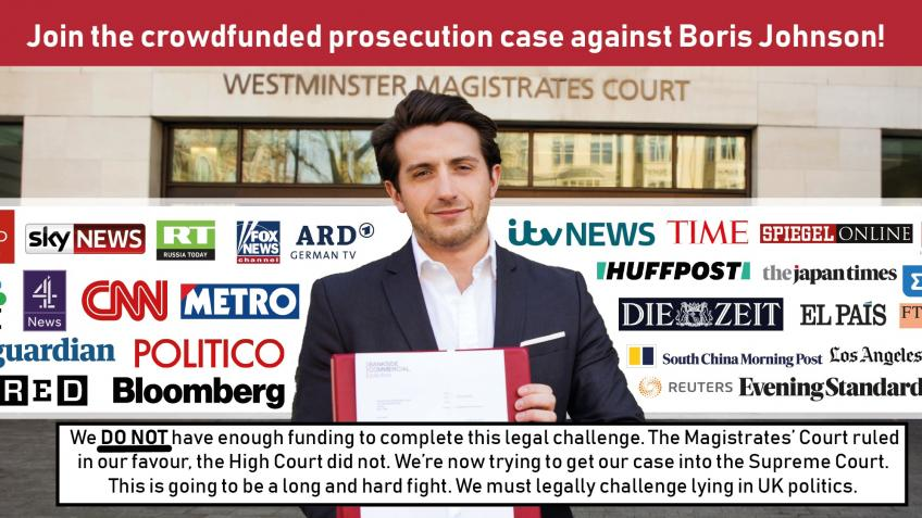 Marcus Ball V Boris Johnson Prosecution Funding
