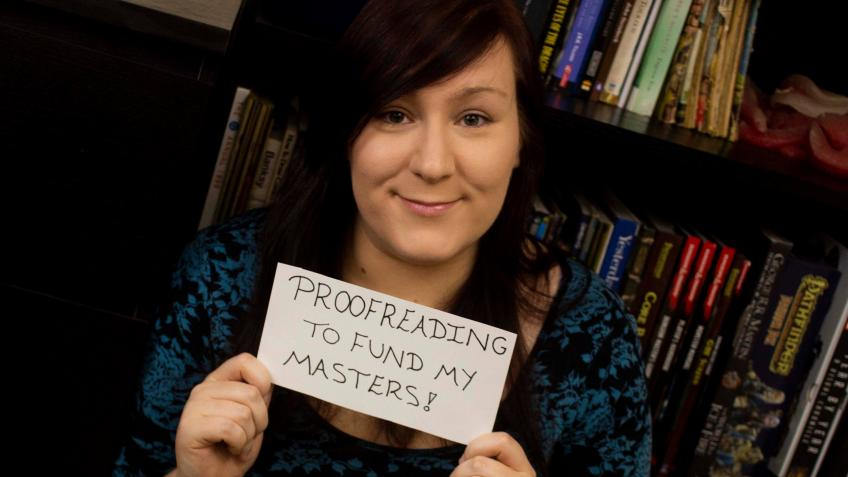Proofreading to fund my master's degree!