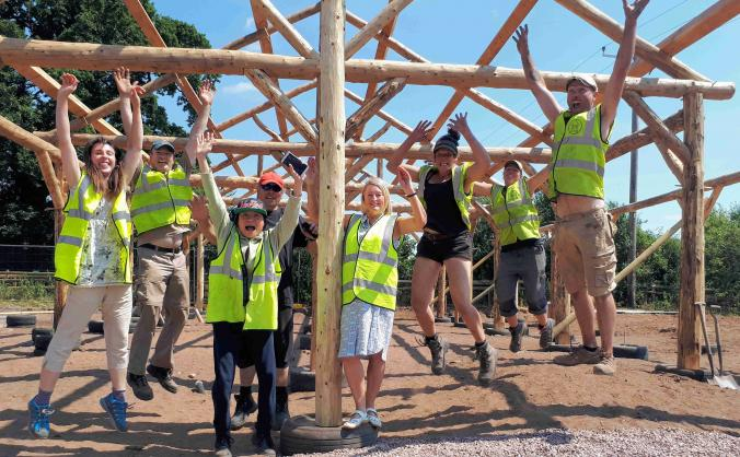 Build it together - fordhall straw bale bunkhouse image