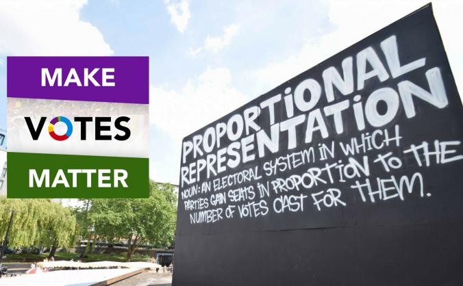 Build the movement for #proportionalrepresentation image