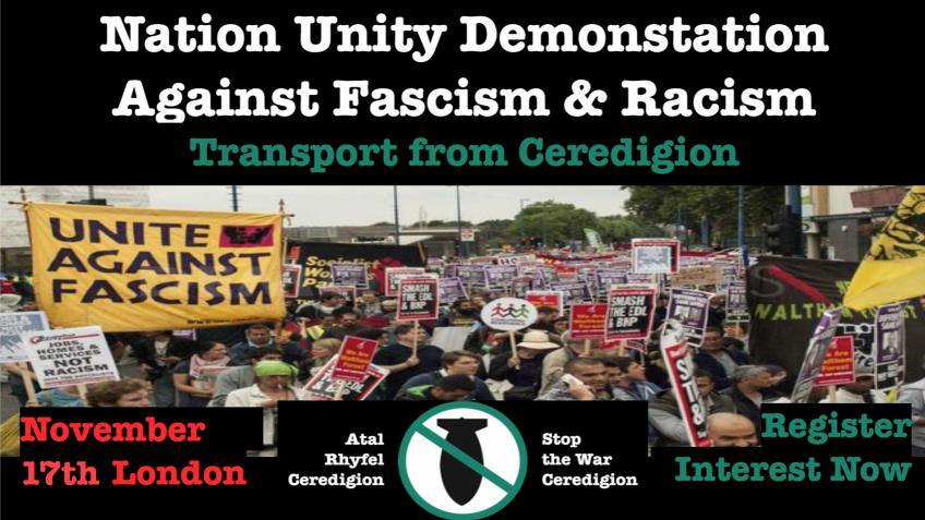Donations: Ceredigion Transport, Antifascist Demo