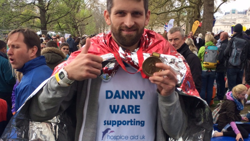 Danny Ware is running London Marathon for Hospices