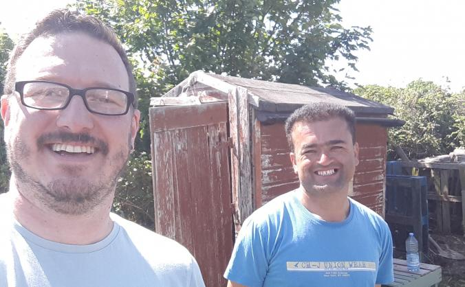 Sheds for a refugee allotment project in plymouth image