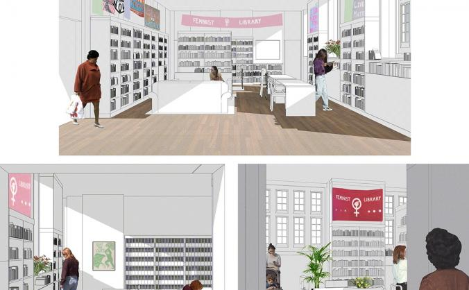 Help the feminist library build its new home image