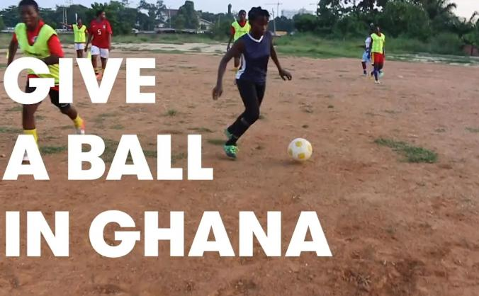 Give a ball in ghana. get a ball for christmas. image