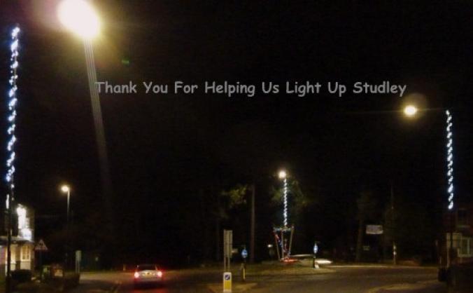 Studley christmas lights campaign image