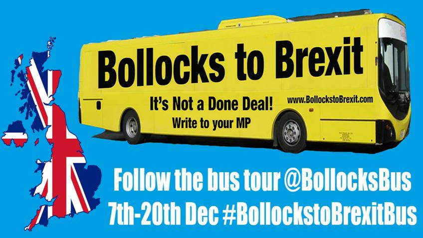 Bollocks To Brexit Bus