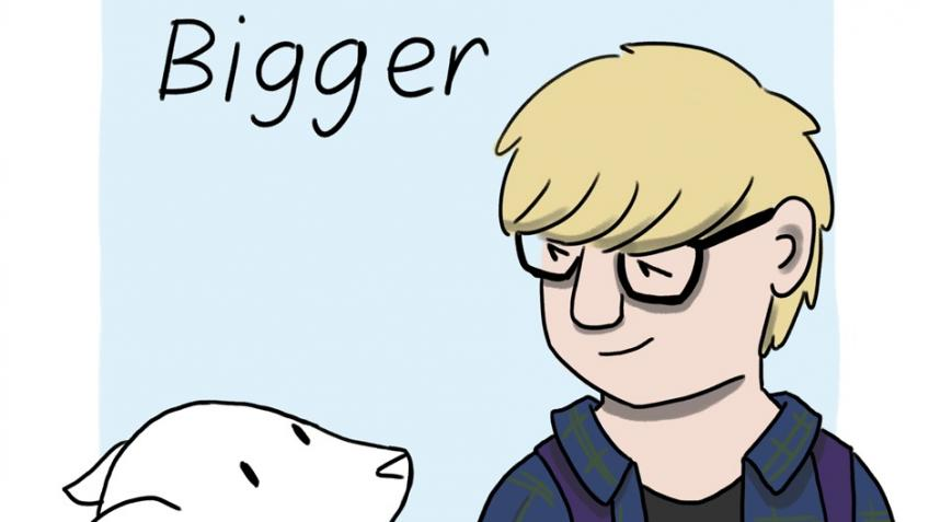 Help fund 'Bigger: a relationship comic'