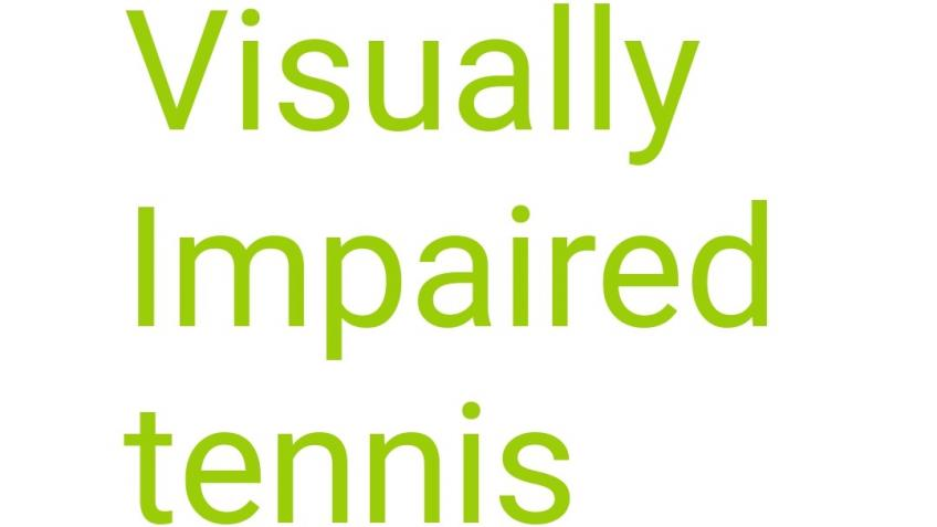 World visual impaired tennis championships fund