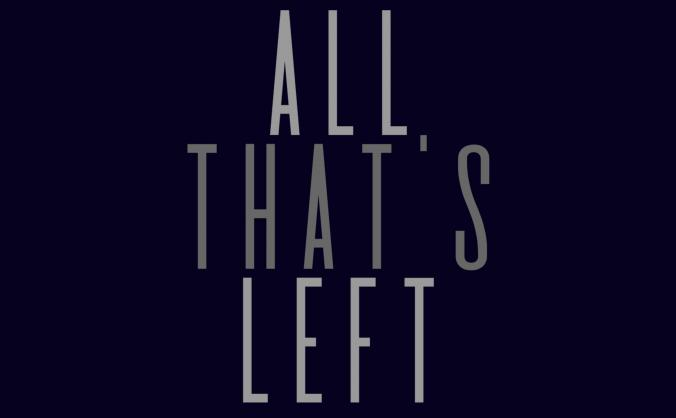 All that's left - a short film image