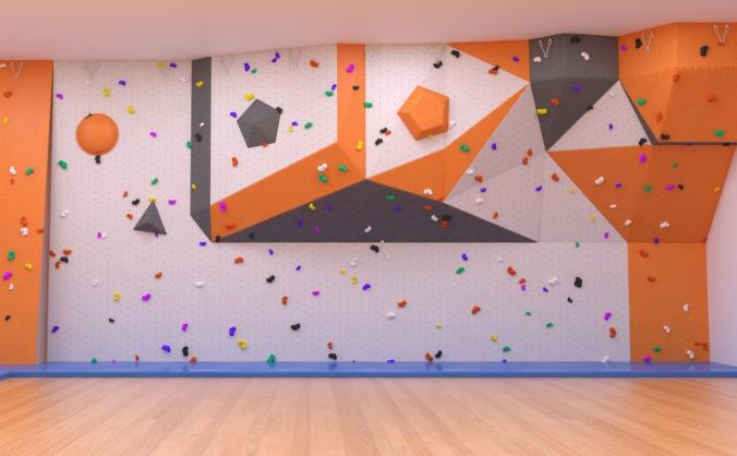 Sports hall refurbishment and new climbing wall image