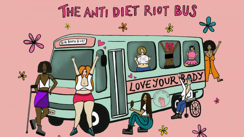 Build The Anti Diet Riot Bus to tour the UK!