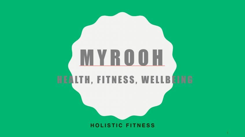MyRooh Health, Fitness & Wellbeing