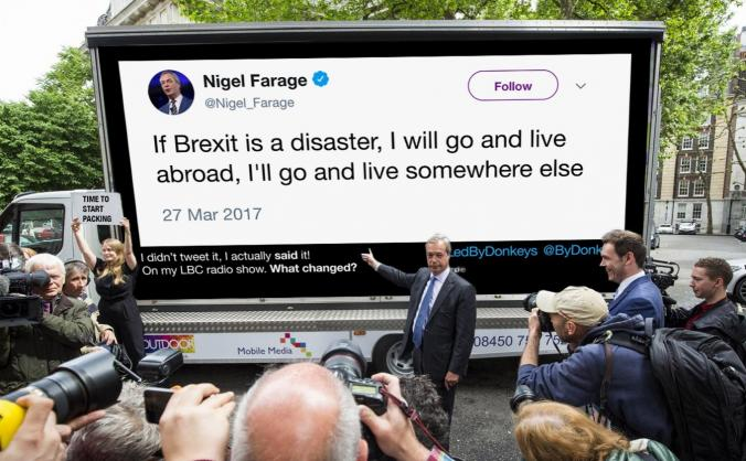 Let's take the truth to farage's brexit march image