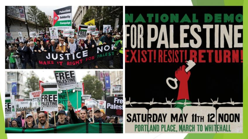 Oxford PSC at National Demonstration for Palestine