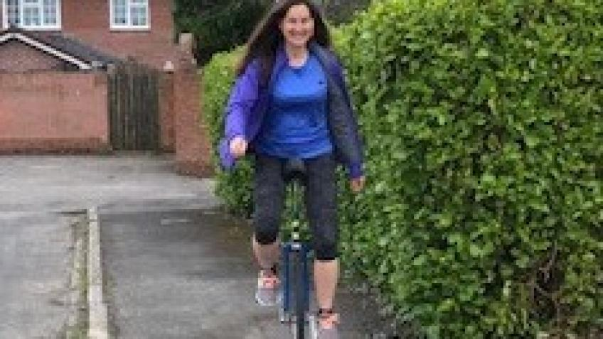 Unicycle ride for Weymouth Hockey Club