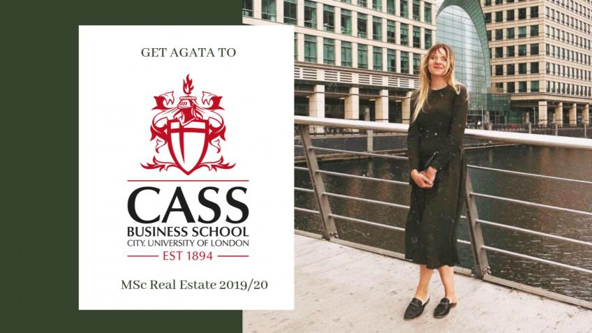 GET AGATA TO CASS BUSINESS SCHOOL