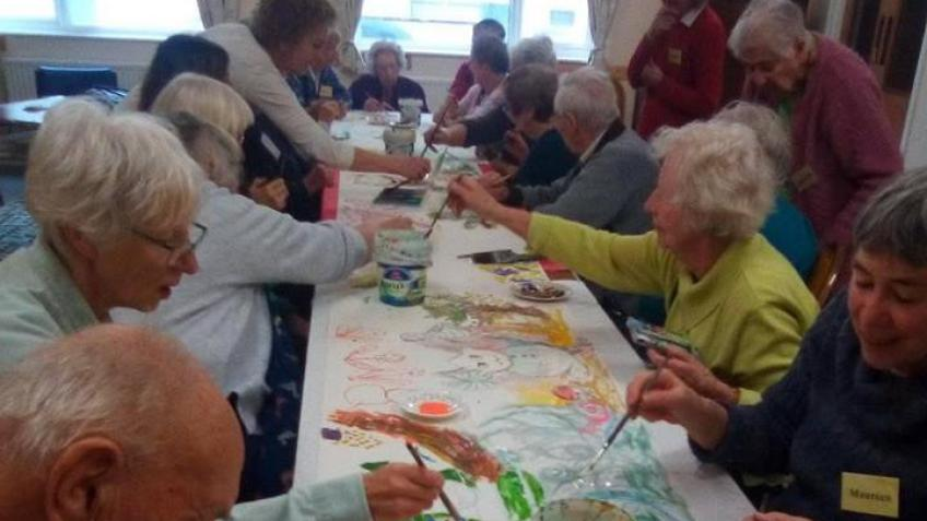 Expressive Paint Events for those with Dementia