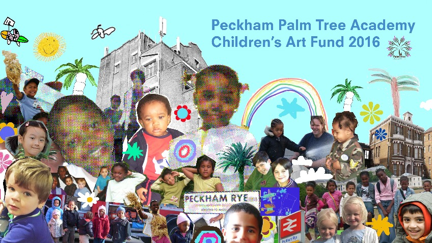 Children's Art at Peckham Rye Station