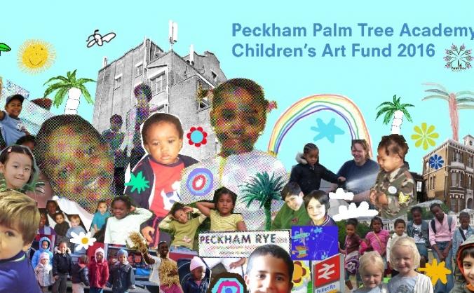 Children's art at peckham rye station image