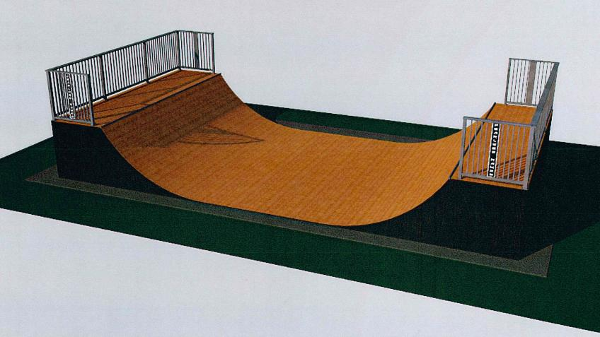 Replacement skate ramp for Battle town