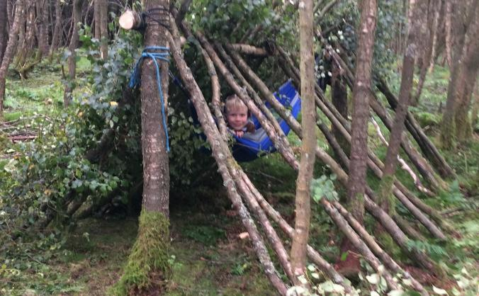 Help a child access therapeutic forest school image