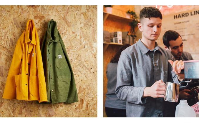 Work shy - organic workwear image