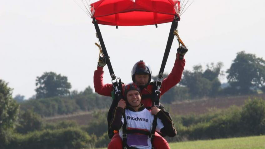 Charity sky dive for Bloodwise charity