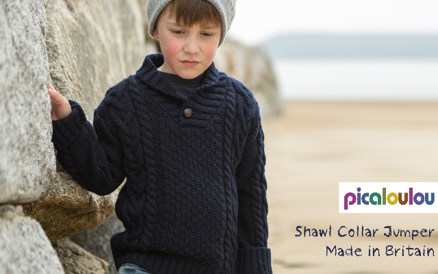 Shawl Collar Jumper Made in GB