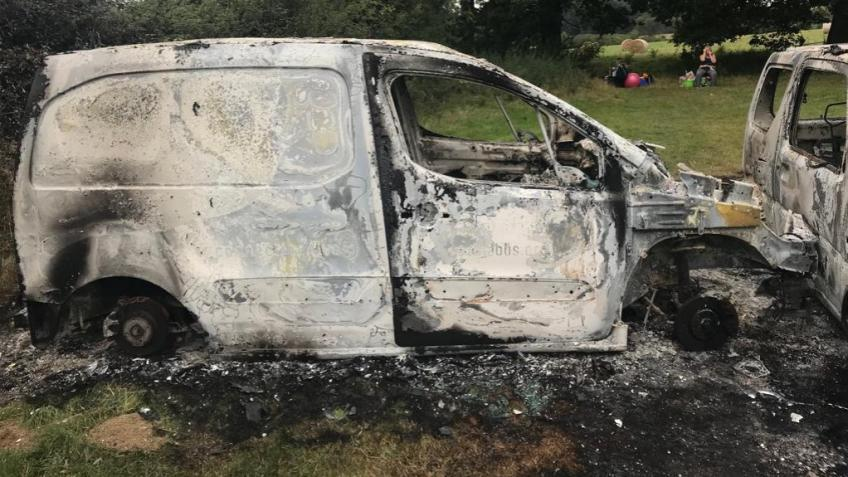 Replace our charity's stolen & burnt out van
