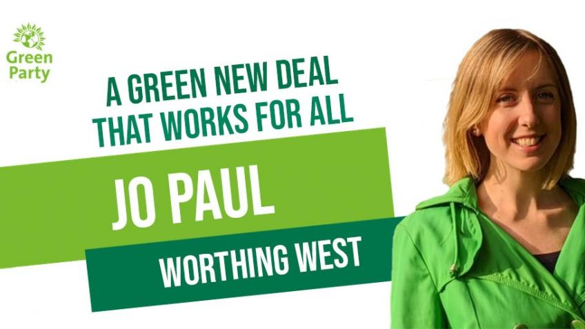 Elect Green MPs in 2019: Jo Paul - Worthing West