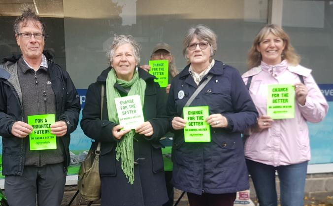 Somerton & frome green party election campaign image