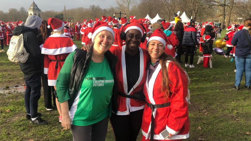 St Chris People Team- Santa Run