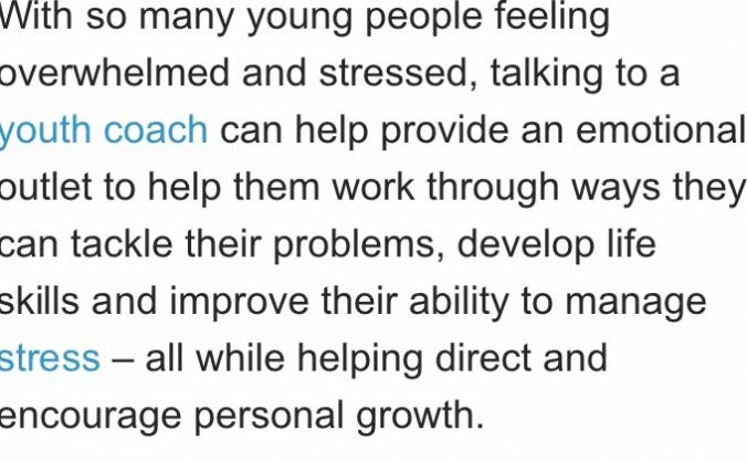 Coaching young people to improve their wellbeing image