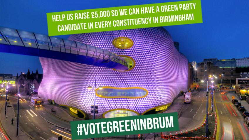 Birmingham Green Party General Election fundraiser