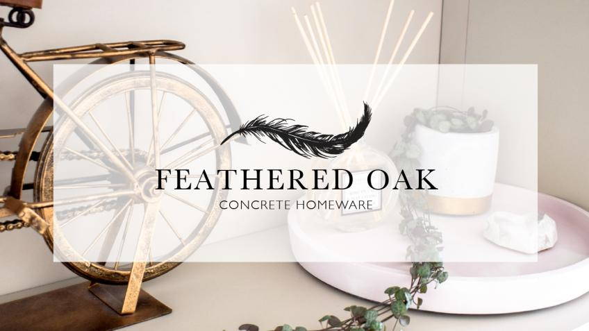 Feathered Oak - Concrete Homeware