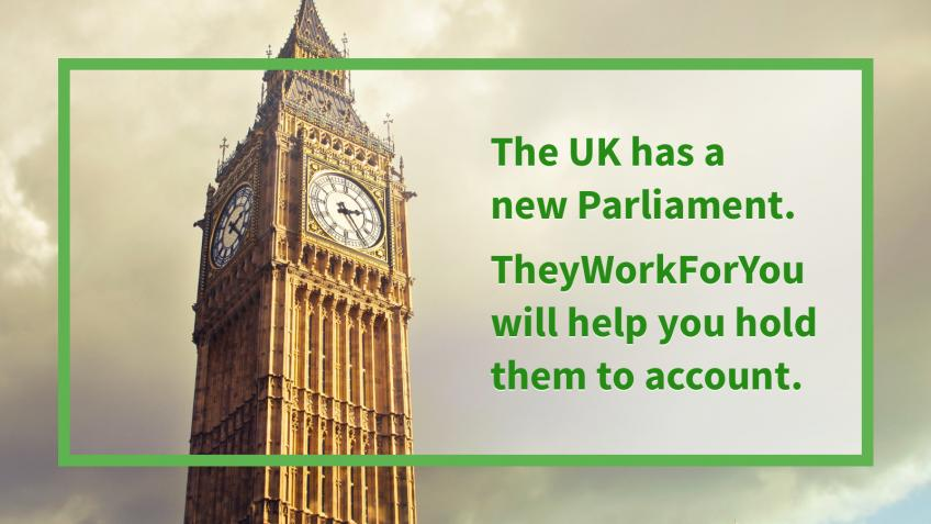 Help TheyWorkForYou make sense of Parliament