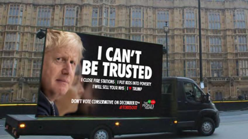 General Election -  Anti Tory Billboard Campaign