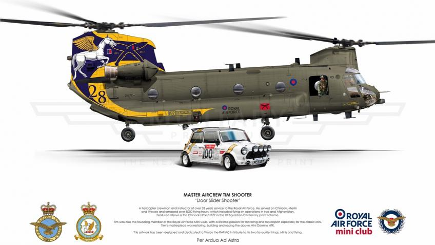 Limited Print Commemorating RAF MACR Tim Shooter