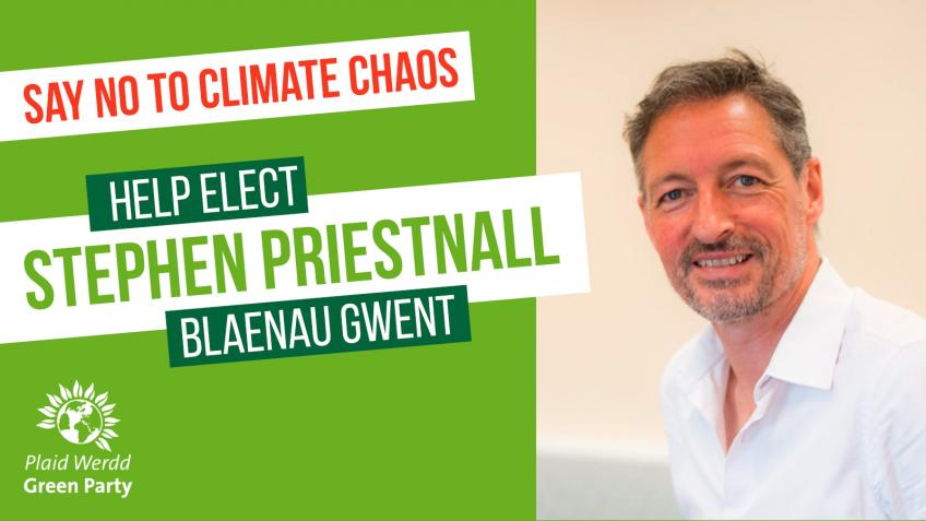 Stephen Priestnall as Green MP for Blaenau Gwent