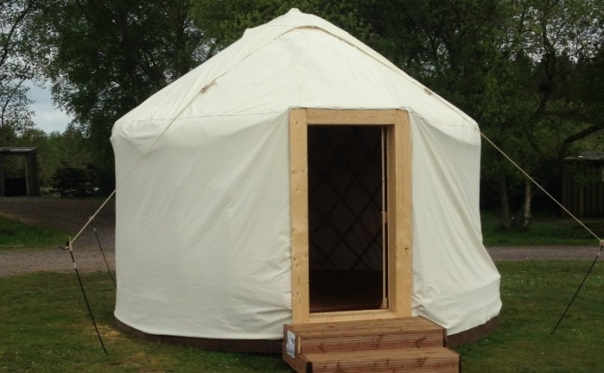The creation of a sustainable yurt village image