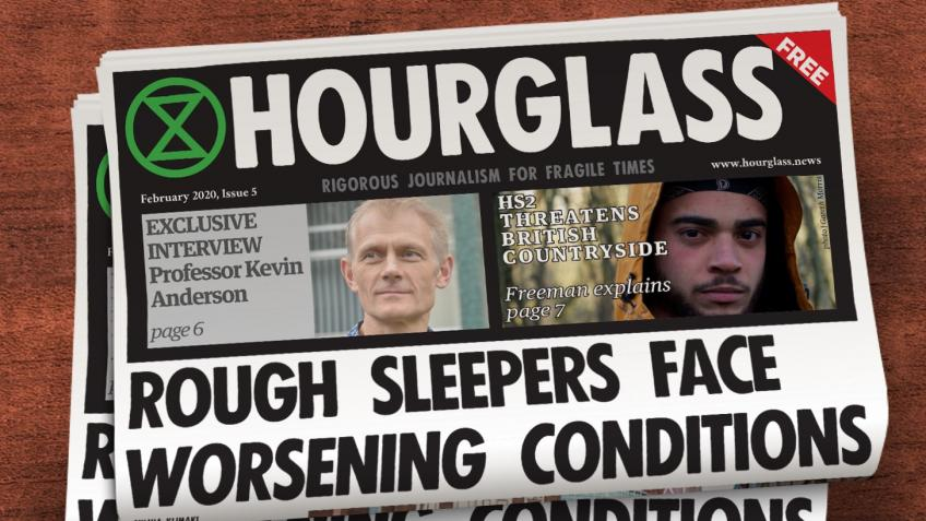 Save The Hourglass newspaper: a new model of media