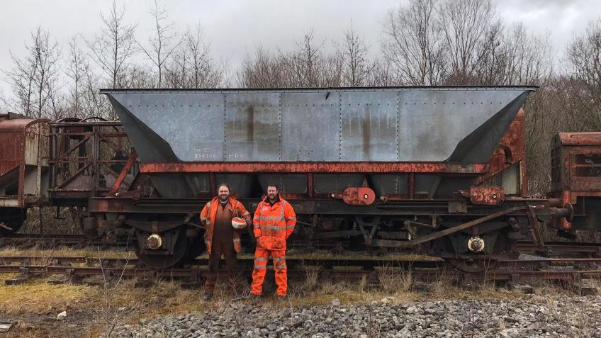 Preserving Two more MGR Coal Hoppers
