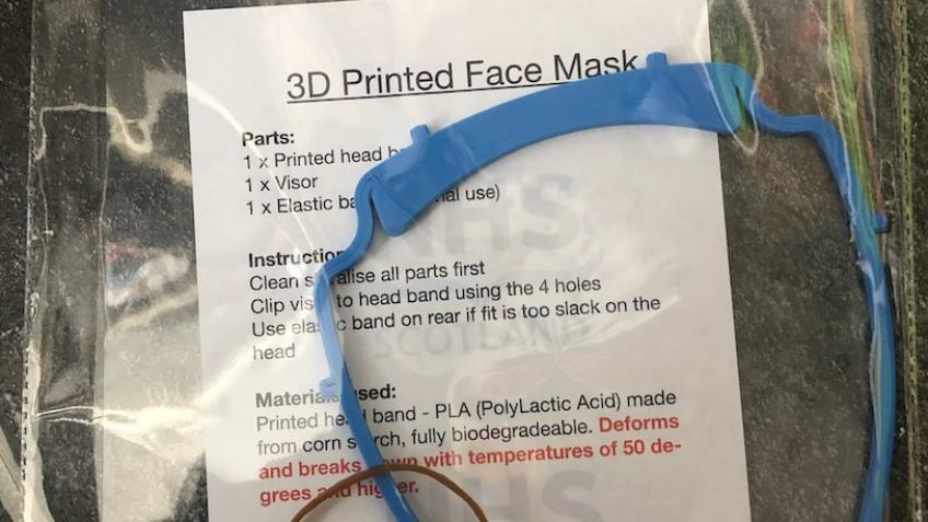 3D printing face visors for NHS staff