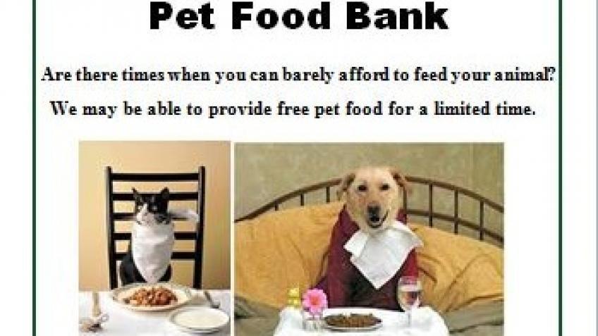 Pet Food Bank and Project Wildcat schemes