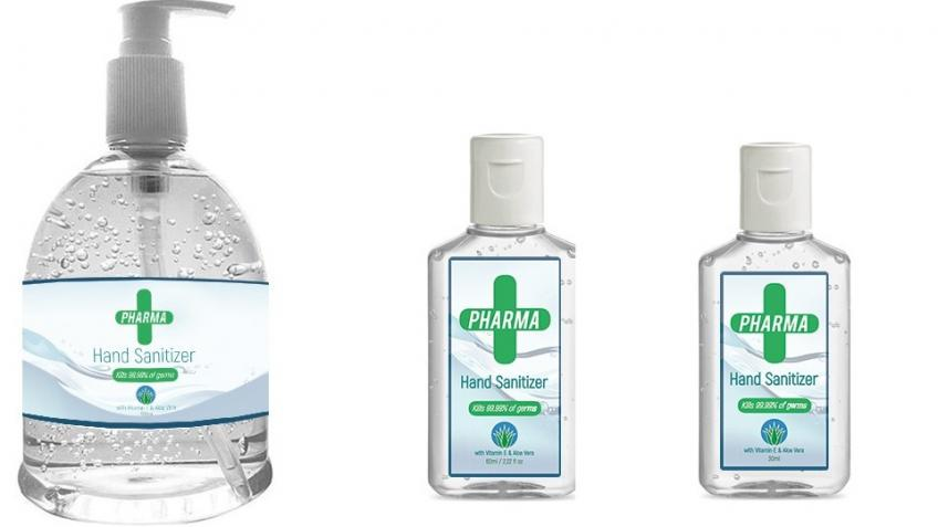 Hand sanitizer gel supply to the health services