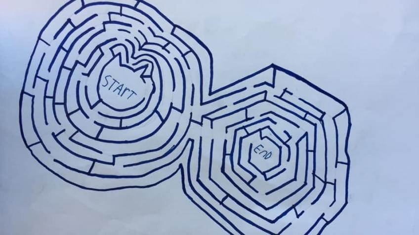 Felix is making mazes out of your initials