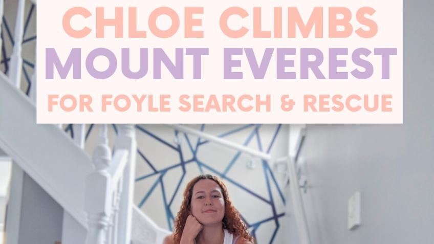 Chloe climbs Mount Everest from her home