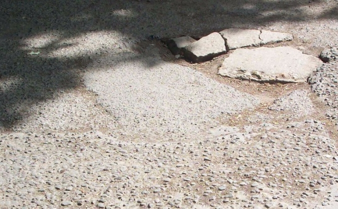 Fixing boundary road image