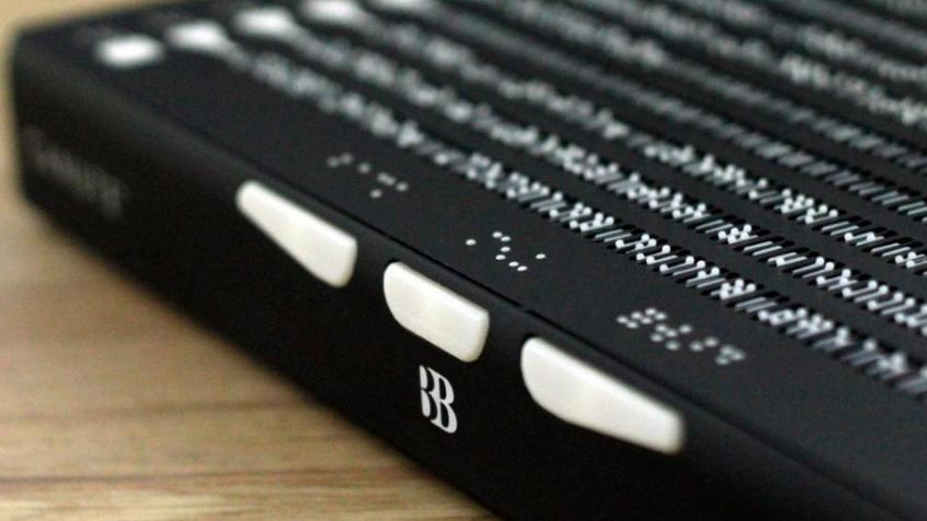 Remote learning Braille for blind people